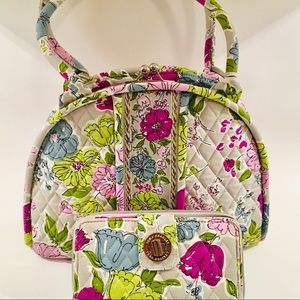 Vera Bradley dome purse with matching wallet